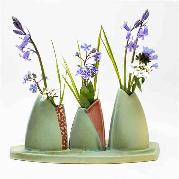 Handmade Bud Vase by Deb Schwartzkopf at Rat City Studios