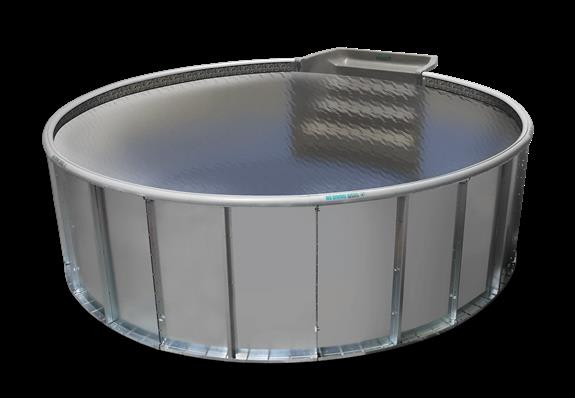 The Cool Pools Round option with neutral liner. Available in 5 sizes.