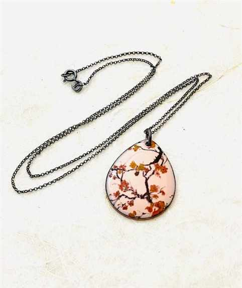 Pink Cherry Blossom Necklace