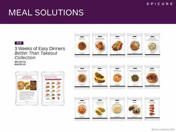 So many meal solutions!  How about a variety pack for 3 weeks of easy meal planning
