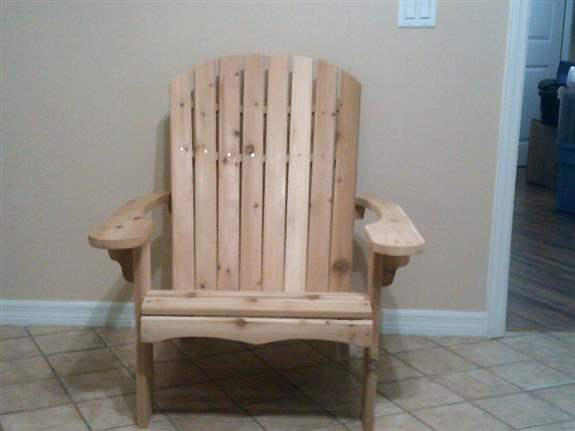 Big Boy Adirondack Chair. Made of Western Cedar.
