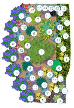 Our custom plant-by-numbers designs are easy to understand for clients who'd like to do their own installation.