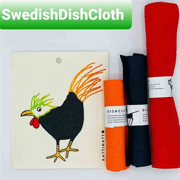 Swedish dish cloths, over 50 prints and 20 solid colors