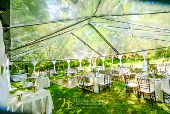 We have rentals! We can take care of everything from tableware to tents for your big day :)