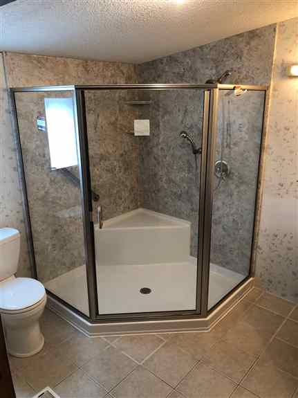 Corner showers, stand alone tubs, walki-in tubs, and more.