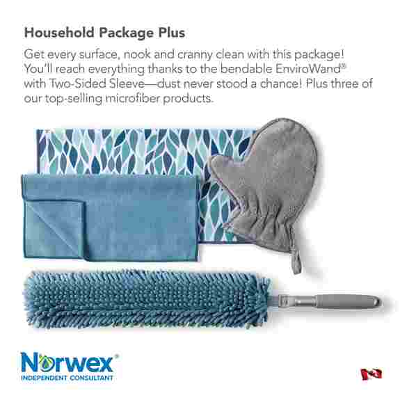 Norwex has many great basic packages to help you get started! Now in some great new colours and prints too!