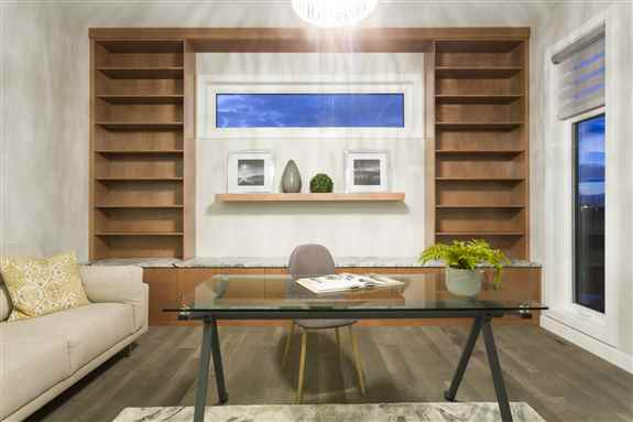 Customized cabinetry to fit the feature wall in your family room looks so inviting.
