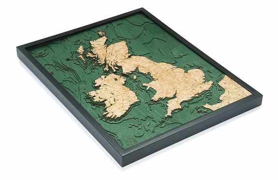 UK map, one of our many international maps.  Free Shipping in the contiguous US