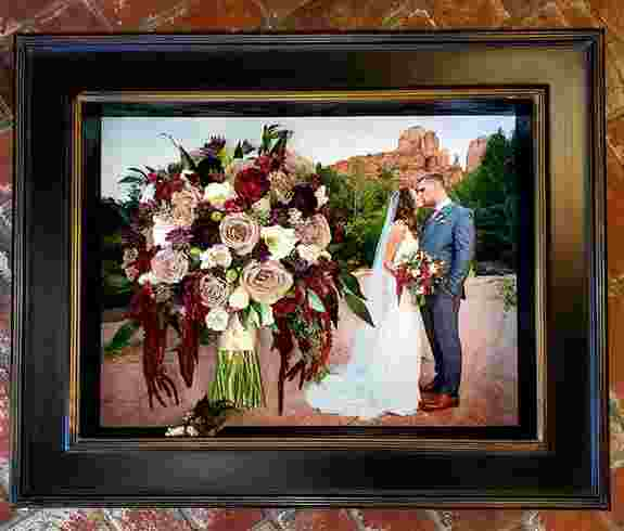 Photo background with your bouquet