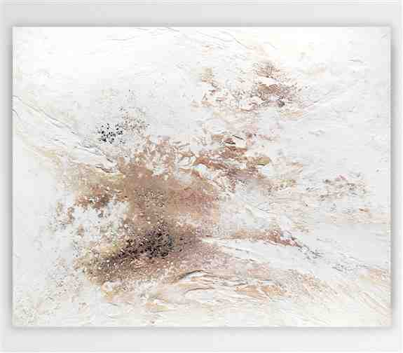 """""""Journey Of Snow"""" 24""""x 30"""" Acrylic paint, copper paint, mica powder and and heavy texture on canvas.<br /><br />Custom recreation available in any size or color range!"""
