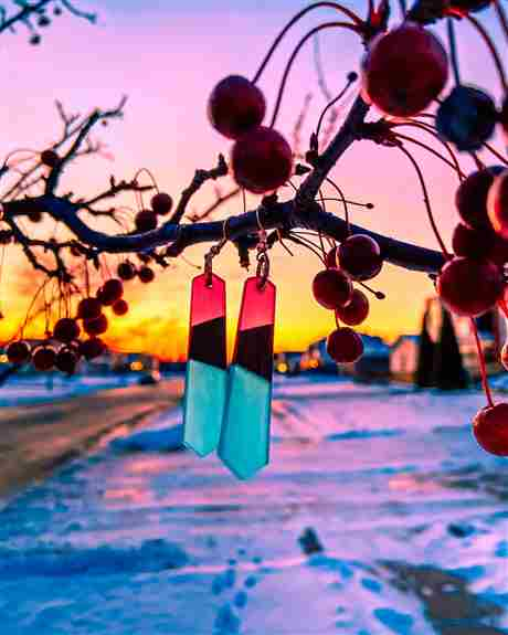 Featured <br /><br />Wood & Resin Earrings: Angelica