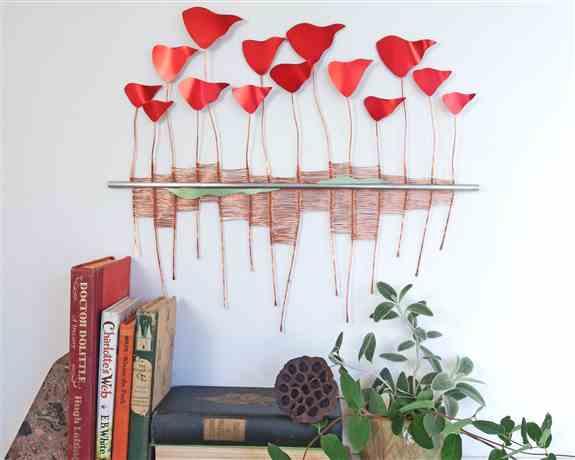 Poppies #42<br />Indoor Wall Sculpture<br />$235