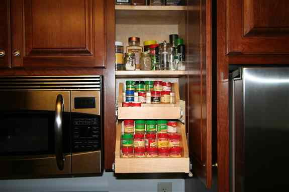 Spice storage is a must for many people.  Keeping all your spices accessible and organized makes cooking more enjoyable!