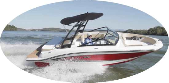 Our sports boats a a great way to get your family out on the water and trying all waterspouts.  We offer Sea-ray 190 SPX and Larson LX200s boats with wakeboard towers and bluetooth stereos.
