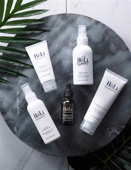 Heli line (Health Living) for Massage & Body Wellness. Soothing Aftershave Mist, Moisturizing Repair Balm, Stretch Mark Minimizing Oil, Lavender & Chamomile Massage Lotion, & Miracle Oil