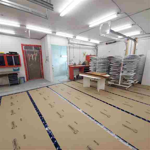 Shop Photo to include our spray booth. <br /><br />We have a heated shop. With a sanding room, storage room, and vented spray booth.<br /><br />Feel free to stop by and see us anytime. Best to contact Lindsey at 613-798-6112 before hand to arrange a time