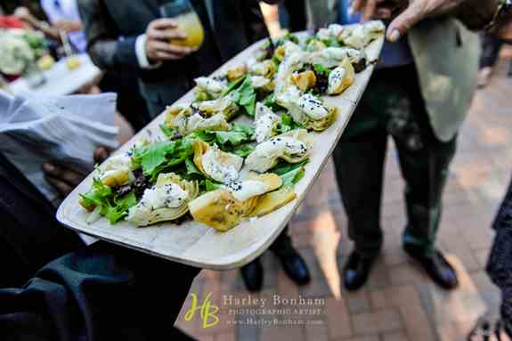 Hand Passed Hors D'Oeuvres During Cocktail Hour!