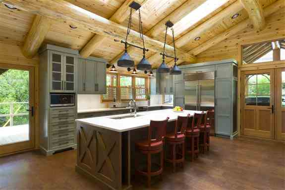 This artistically beautiful kitchen has inspired many cottage owners when designing their own dream kitchens.