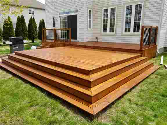 Cedar deck finished in Sansin DEC Natural Cedar