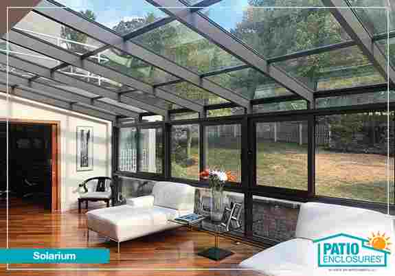 Views of the clouds and sky or the stars at night in your Patio Enclosures solarium.