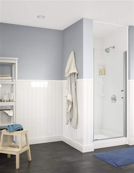 Transform that dingy, dark shower into something bright, fresh, and airy. And did you know that we offer wainscoting?