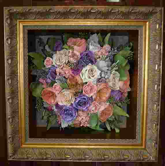 floral in our ornate gold frame