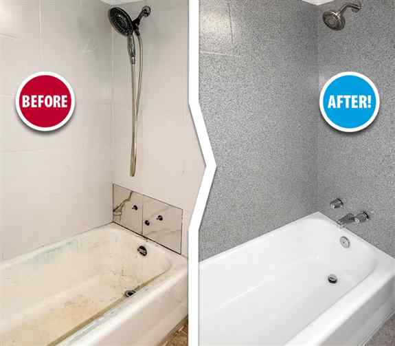 GROUT LINES CAN BE HARD TO CLEAN ALLOWING GERMS TO CULTIVATE! At Miracle method we can COMPLETELY seal those grout lines and give your tile a fresh new look!