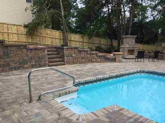 Pool and Hardscape installation