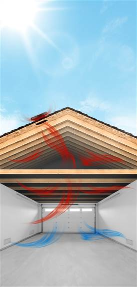 Cool down your Attic and Garage with a Solar Attic Fan.