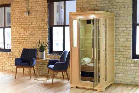 Good Health Saunas' 1 Person Infrared Sauna will transport you to your own serene and relaxing personal retreat. The comfortable and safe design allows you to customize the experience to fit your overall wellness wants and needs. GSE-1<br />