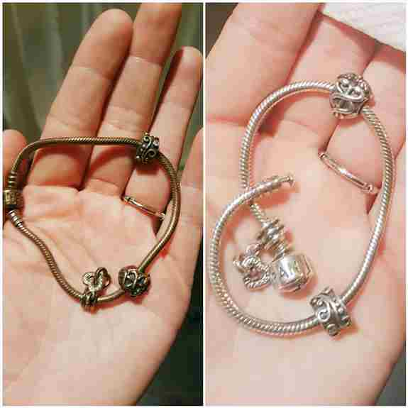 Check out the before and after from a customer's Pandora bracelet!