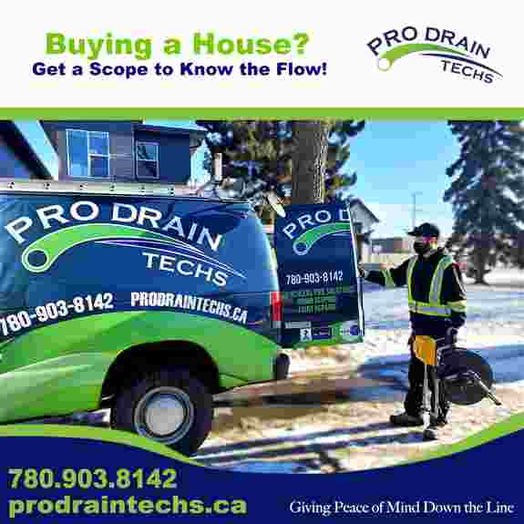 Scoping the drain is the only way to know what the condition of the pipe is. The camera records the inspection in colour video and can run up to 200'.<br /><br /> Buying a house, preventative maintenance, drain seems slow, or have a reno and need to know