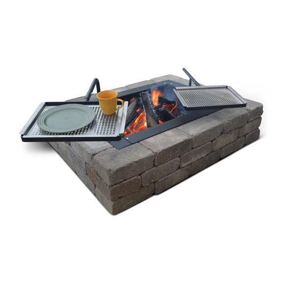 DIY Fire Pit inserts kits with add on grilling and entertainment accessories.