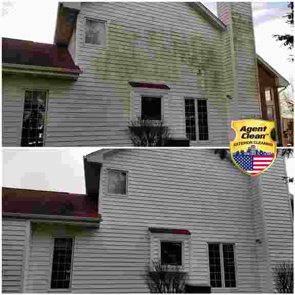 Siding looks better without mold and mildew. We use a the soft washing technique to safely remove mold, mildew, algae, and other organic growths from house siding.