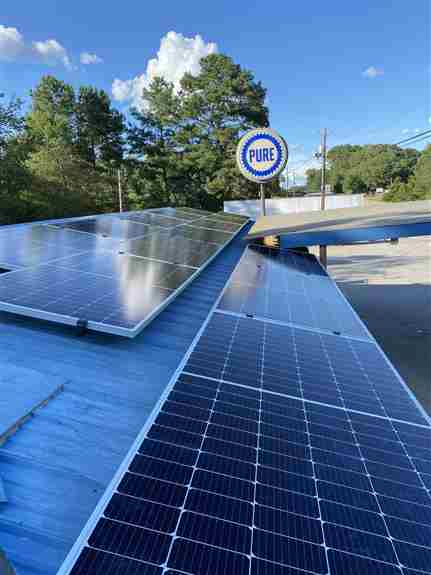 Commercial solar installation in Gainesville, GA.
