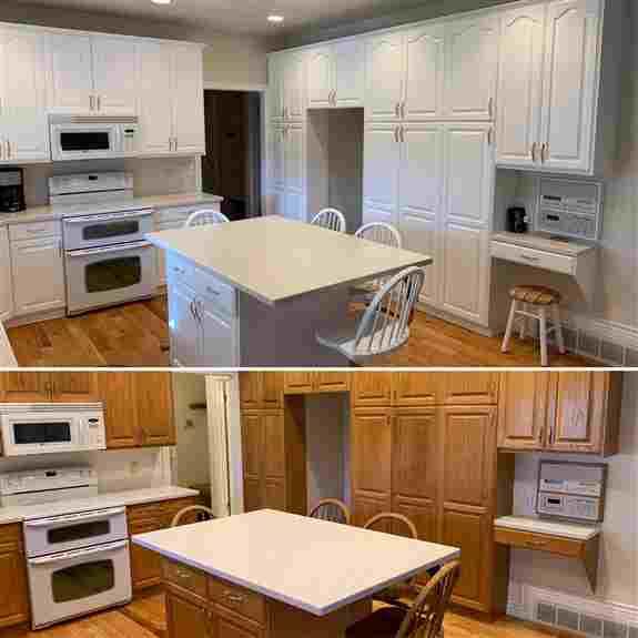 Oak Kitchen Cabinet Painting - Sandy