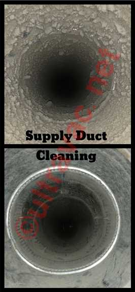 Your supply ducts connect your blowing (or supply) vents in your home to your main ducting which runs from your furnace.  These ducts are always INCLUDED in your Ultra Vac duct cleaning at NO ADDITIONAL COST!