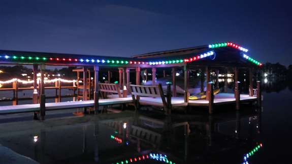 Make your boat dock the envy of others for miles around.  you'll never get lost coming home by boat with your dock shinning bright and looking beautiful.