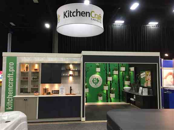 Kitchen Craft's Award winning booth featured at the 2019 Kitchen, Bath and Renovation Show!