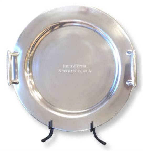 Our Guest Book Trays and Engraved Platters are designed to be signed by your guests with our easy-to-use Signature Engraving Scribe™. This permanently etches your guests' signatures onto a sturdy, high-quality alloy surface. The platter is fully functiona