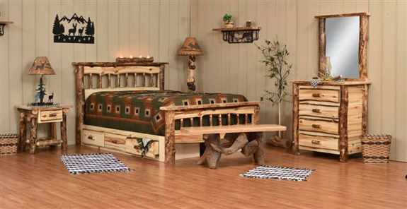 Log furniture is just one unique style we offer!