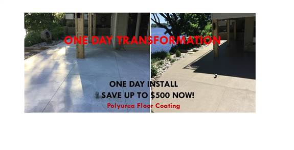 Save now! Book your Polyurea Floor Coating Free Estimate before April 1st to take advantage of this offer!