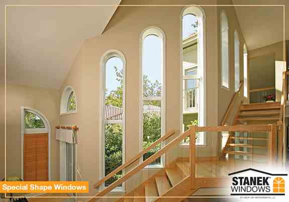 With 25 shapes to choose from, special-shape windows can add a designer touch to any home.