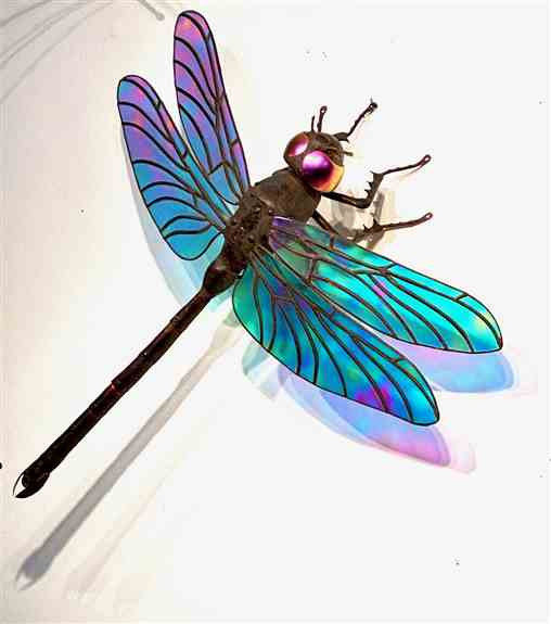 Dragonfly Sculpture- Available in a 15 inch , 20 inch and 26 inch wingspan. They range in price from 790.00 to 2200.00