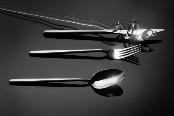 Stiletto Flatware by Broggi 1818<br />Made in Italy stainless steel 18/10<br />place settings, individual pieces and accessories available.<br />Contact Francesca for question 425 2059921