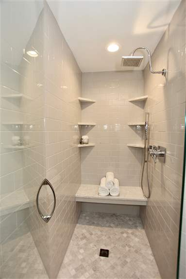 Shower with floating bench<br />