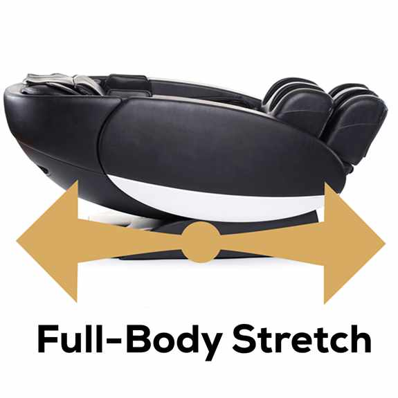 "Our expansive ""bend and stretch"" functionality provides unprecedented leg and spine relief, to help you to recover with greater efficiency."