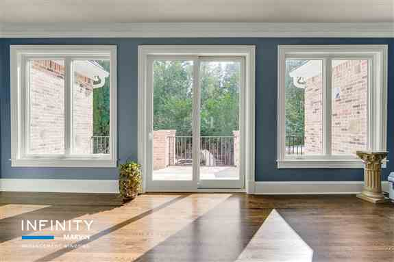 Infinity from Marvin windows and doors are custom built for your home, for a perfect fit all the time. They're made of our proprietary Ultrex fiberglass that is 8 times stronger than vinyl, so they'll be as solid and tight in 15 years as they are on the d