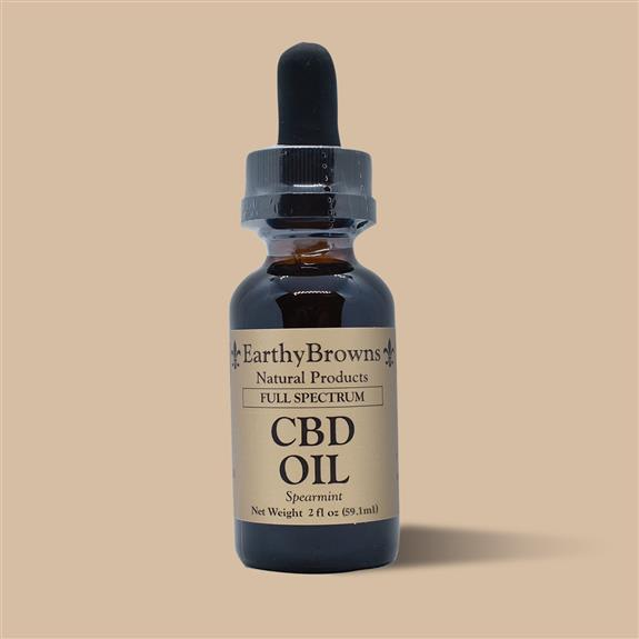 2400 mg Full Spectrum CBD oil (2oz) in natural or spearmint flavor $120
