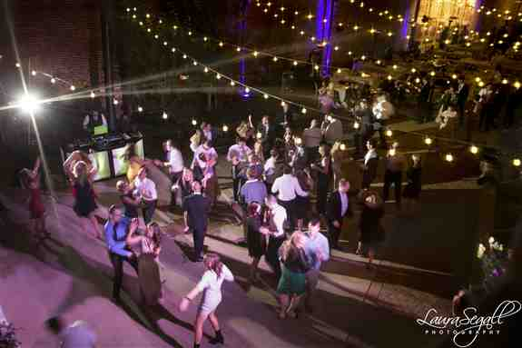 This is a birds eye view of one wedding I DJ'd.